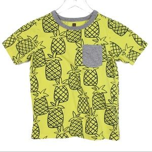 Tea Collection 8 Yellow Pineapple T-Shirt